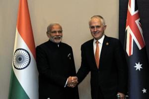 File photo of Prime Minister Narendra Modi and his Australian counterpart Malcolm Turnbull during their meeting in Turkey in November 2015.