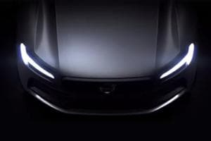The Thor's Hammer headlamps blinking from the dark is the first sign of a Volvo in the video of Rider.