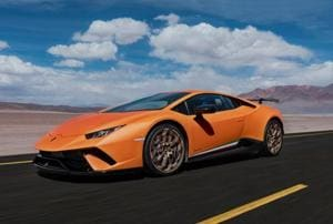 Lamborghini Huracan Performante can reach 0 to 100kph in 2.9 seconds, and can clock a top speed of 325 kph.