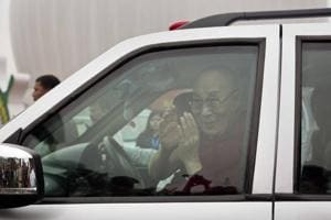 Tibetan spiritual leader the Dalai Lama was to have reached Tawang by chopper from Guwahati on April 4, but bad weather forced him to take the 550 km road.