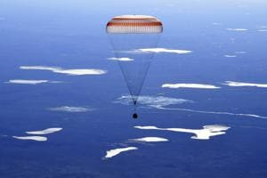 In pictures: US, Russian crew lands safely after 173 days  stay in space