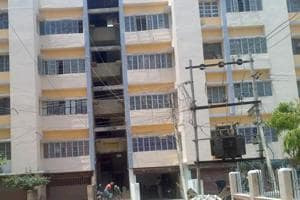 HIG flats constructed by Bihar State Housing Board in Patna.
