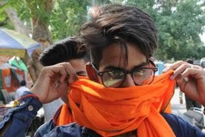 Donning saffron, a fad among the youngsters in Lucknow.
