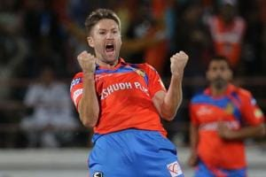 Andrew Tye took 5/17, including a hat-trick, for Gujarat Lions against Rising Pune Supergiant in an Indian Premier League (IPL) 2017 match.
