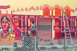 Walls, automobiles and metro stations in Jaipur are being painted to showcase the heritage of Rajasthan.