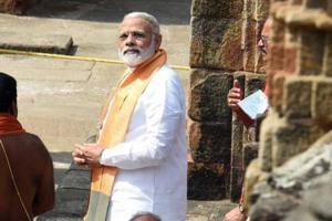 Prime Minister Narendra Modi visits Lingaraj temple in Bhubneshwar, India on Sunday.