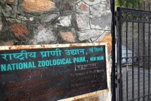 The main entrance of the Delhi Zoo.