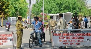 The guards at PU are not policemen, the perception that is usually held true due to their Khaki uniform.