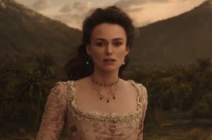 Keira Knightley played Elizabeth Swann in the first three Pirates of the Caribbean movies.