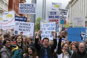 In Pics: Global 'March for Science' protests call for action on...