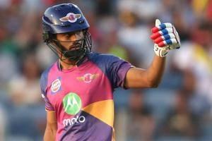 IPL2017:Rahul Tripathi slams maiden fifty to give Rising Pune...