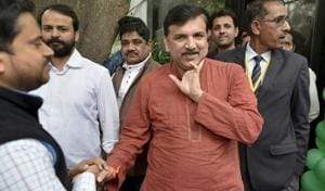 MCD election: AAP leader Sanjay Singh asked to leave Janakpuri polling...