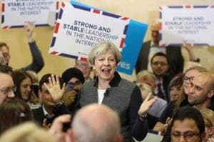 UK PM May's Conservatives on course for sweeping British election...