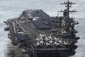 North Korea says ready to sink 'gross animal' US aircraft ship in...