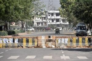 Gurgaon: Wall blocking main road to Sector 29 market goes down the day...