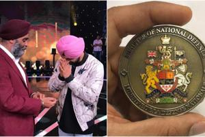 Diljit Dosanjh receives coin of honour from Canadian Minister of...