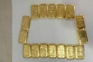16 gold bars worth ₹56 lakh seized from men's washroom at Mumbai...