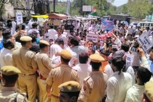 Mewat Yuva Sangthan took out a silent march in Alwar earlier this month  demanding  arrest of  those involved in the lynching of Pehlu Khan