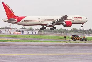 Air India plane grounded after being hit by catering van at IGI...