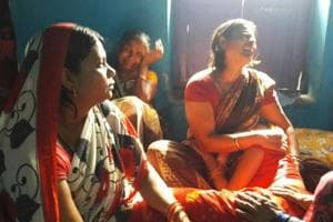 Family members of mSourav Kumar at Danapur, in Patna