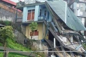 Houses collapsing in Mizoram's sinking zones force landlords to turn...