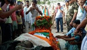 Fallen Sukma jawan's widow says he had a prior bullet injury, still...