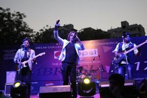 Multi-genre Hindi band Astitva performs at DCAC's annual cultural fest Ambrosia.