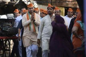 BJP candidate from Delhi Gate Faimuddin Saifi.