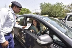 'No Horn Day' held at Huda City Centre in Gurgaon