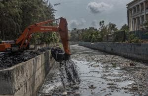 A month ahead of monsoon,only 7% of desilting work is complete in...