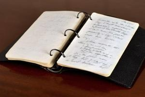 JFK diary in which he wrote 'Hitler had in him stuff legends are made...