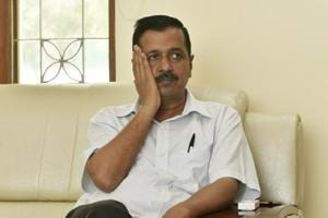 Delhi Chief Minister Arvind Kejriwal at at his official residence in New Delhi,  April 22
