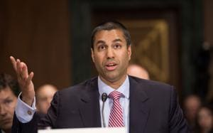 Federal Communications Commission (FCC) Commissioner Ajit Pai testifies before the Senate Judiciary Committee