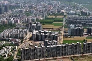 An aerial view of Zirakpur, a hub of residential projects in Punjab.