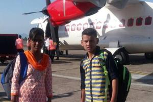 Orphanage inmates on cloud nine after taking first Shimla-Delhi flight