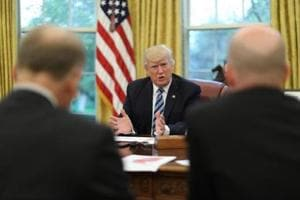 Trump says 'major, major' conflict with N Korea possible, but wants...