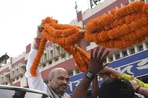 Amit Shah lands in Jammu for 2-day visit, defusing Kashmir situation...