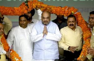 BJP is a party with internal democracy, Congress has no ideology: Amit...