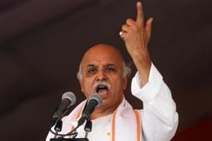 VHP's Pravin Togadia says govt should 'carpet bomb' Kashmir to stop...