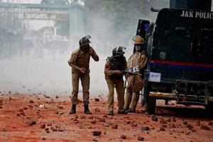 Three policemen, a civilian injured in grenade explosion in Srinagar