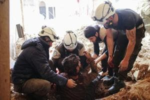 Airstrike in Syria kills 8 White Helmets rescuers
