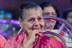 Rakhee Gulzar makes a rare appearance at a Mumbai event
