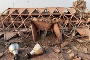 About half a dozen bulldozers worked overnight on April 23 at Pragati Maidan to pull down five iconic buildings — Hall of Nations and Hall of Industries (a cluster of four buildings).