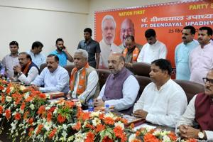 Amit Shah holds talks with RSS leaders in Jammu over unrest in Valley
