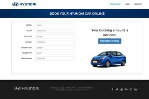 Through the new portal, customers can now choose their model, variant, colour and even the showroom they would want to get their car from.
