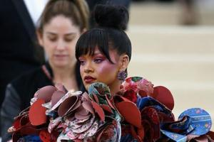 Rihanna wore Kawakubo's design to the Gala.