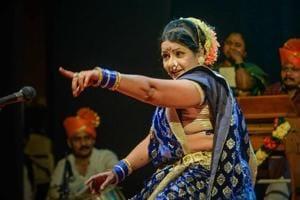 A still from Sangeet Bari, a play on the traditional Maharashtrian lavani dance.