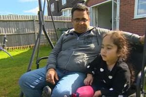 "Seven-year-old Anu says her running blade makes her ""run faster and do my street dancing faster""."