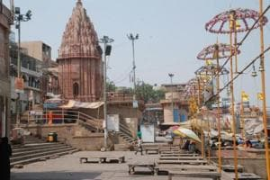 A ghat in Varanasi, the city was ranked 32nd in a survey of clean cities in India.