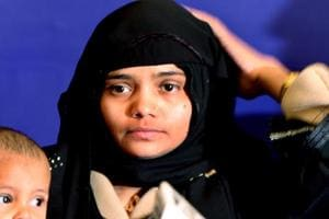 In this file photo, Bilkis Bano can be seen addressing a press conference in New Delhi in January 2008. In the case, the Bombay high court has also set aside the acquittal of six others for tampering with evidence.